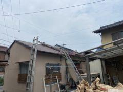 既存瓦使用(塩焼き瓦)棟の積み替え及び修繕工事